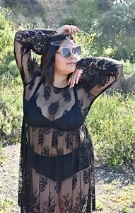 Black sheer lace Coachella style; OOTD - biancakarina