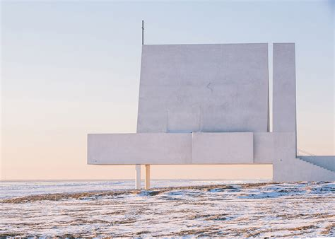 Concrete Beachfront Chapel Appears To Float At High Tide