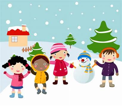 Winter Snow Play Clipart February Events Plan