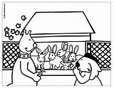 Rabbit Hutch Coloring Uptoten Kwala Boowa Games sketch template