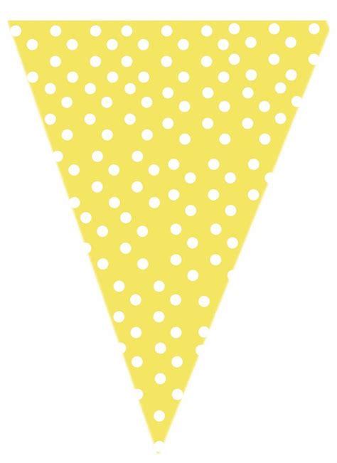 free yellow polk a dot printable banner printables