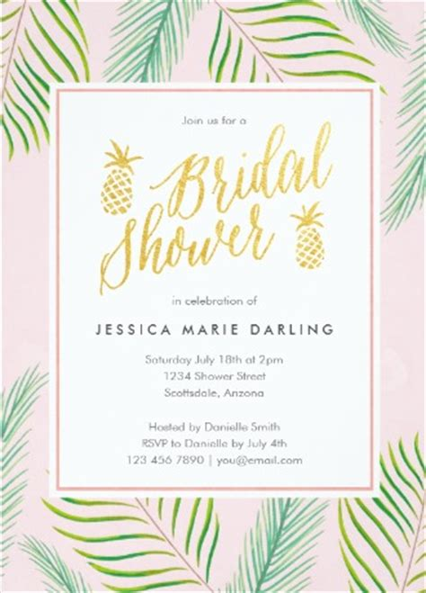 luscious tropical bridal shower invitations lets luau