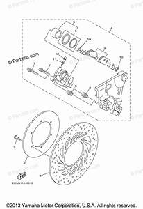 Yamaha Motorcycle 2014 Oem Parts Diagram For Rear Brake