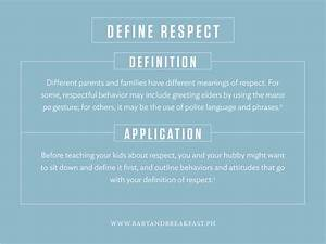 Teach Your Kids... Respect Definition