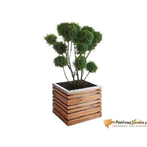 bac 224 fleurs en bois carr 233 lign z 50 achat vente jardini 232 re pot fleur bac 224 fleurs en bois