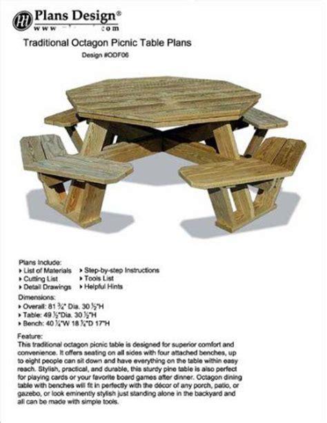 ideas  octagon picnic table  pinterest