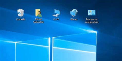configuration bureau afficher ce pc panneau de configuration sur le bureau