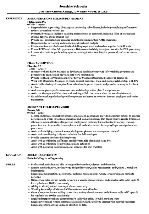 Experienced Resume Exles by Oilfield Construction Supervisor Description Field