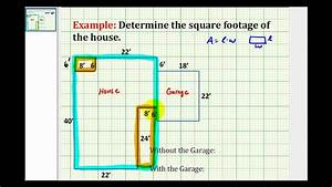 Ex find the square footage of a house youtube for How to figure square footage for flooring