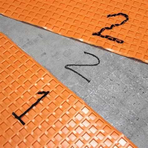 Tile Underlayment Membrane Orange by Prep A Tile Floor