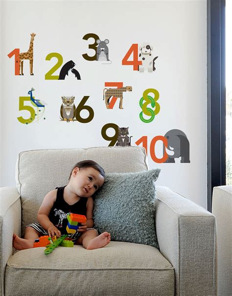 Decorative 3d wall panels by walldecor3d. Numbers ~ Re-Stik   Baby room wall decals, Wall stickers room, Wall stickers