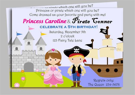 pirate  princess invitation printable   thatpartychick
