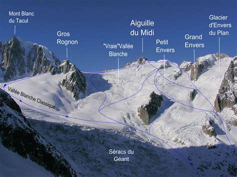 monter le mont blanc itineraires ski hors piste ski rando randonnee vallee blanche chamonix mont blanc ski vall 233 e