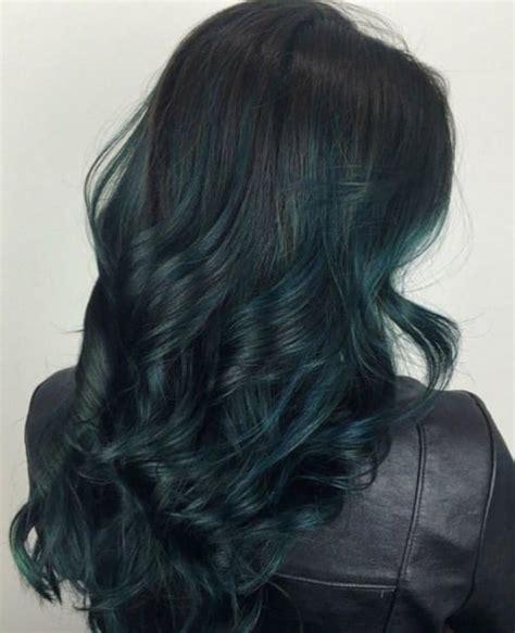 Dark Green Rainbow Hair Inspiration Popsugar Beauty