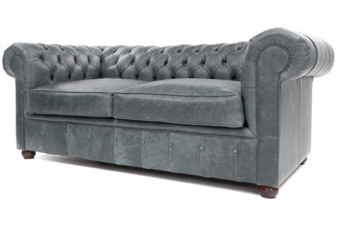 grey leather settee chester vintage leather 2 seater chesterfield from boot
