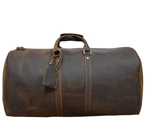 Brown Leather Travel Bag Purse 39 S Leather Travel Duffle 24 Inch Brown