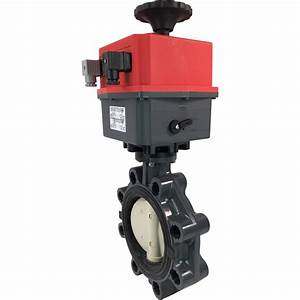 6 U2033 Electric Actuated Pvc Butterfly Valve 24 Dc