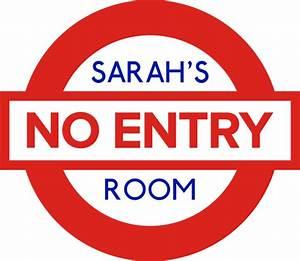 Bedroom No Entry UK Sign Shop