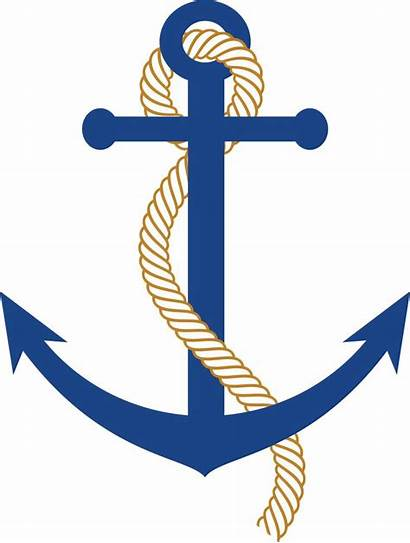 Anchor Nautical Clip Clipart Rope Border Boat