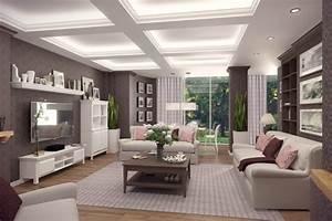 Spots Led Decke : der landhausstil im wohnzimmer von klassisch bis modern ~ Buech-reservation.com Haus und Dekorationen