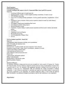 resume format for experienced it professionals 10000 cv and resume sles with free sle resume format for experienced
