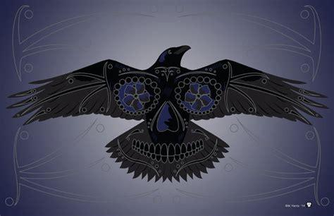 Raven Sugar Skull 11-by-17 Poster Print