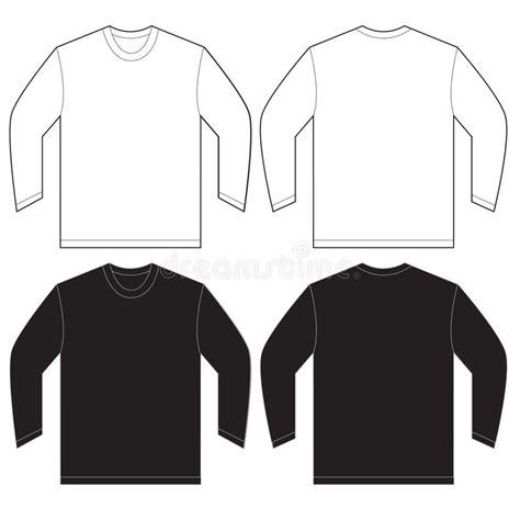 jersey longsleeve black white sleeve t shirt design template stock