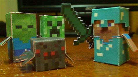 Diy Minecraft Hostile Mobs Minis Set