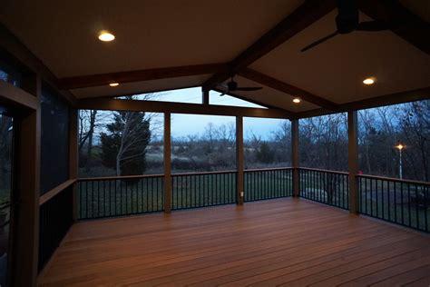 deckscom gable roof screened porch picture