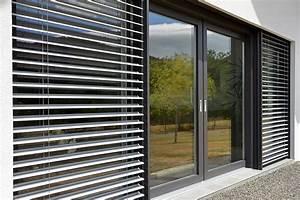 baie vitree alsace porte coulissante heidrich With porte de garage coulissante avec store venitien pour porte fenetre pvc
