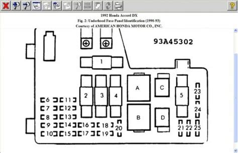 Honda Accord Fuse Diagram For 1992 by 1992 Honda Accord Fuse The Cigarette Lighter Is In
