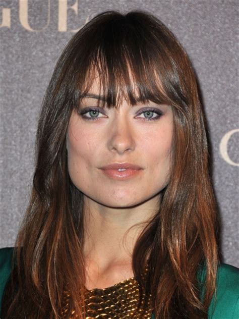 olivia wilde bangs  square face women hairstyles