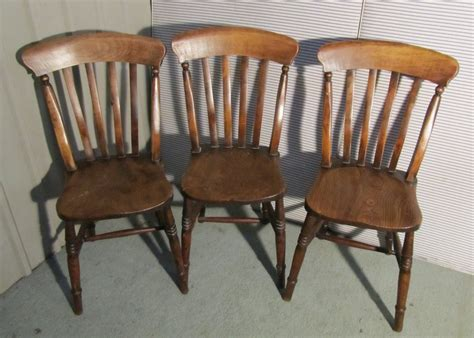 6 set slat back farmhouse kitchen chairs