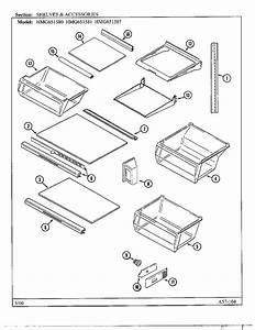 Shelves  Accessories Diagram  U0026 Parts List For Model Hmg651587 Sharp