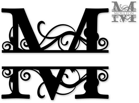 split monogram svg attic cricut pinterest monograms