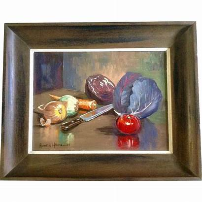 Oil Painting Williams Signed Robert Board Artist