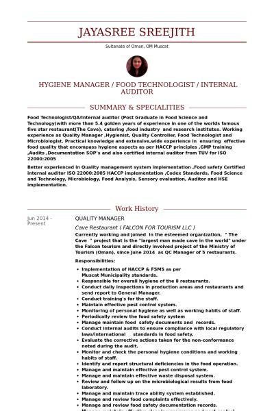 quality control microbiologist resume sample  resume