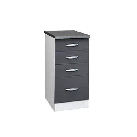 element bas de cuisine avec plan de travail meuble cuisine bas 40 cm 4 tiroirs oxane gris achat vente elements bas meuble cuisine bas 40