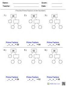 factoring numbers worksheets factors worksheets printable factors and multiples worksheets