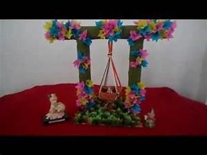 craft 2014,handmade jhula for balgopal - YouTube