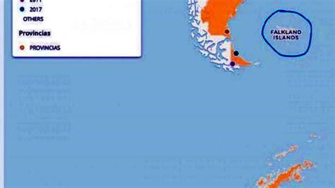 """El Gobierno publicó otro mapa donde llama """"falklands"""" a"""