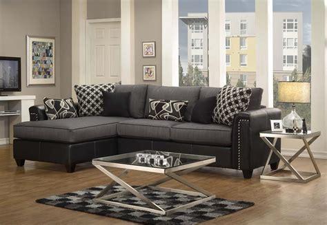 Black Fabric Sectional Sofa Steal A Sofa Furniture
