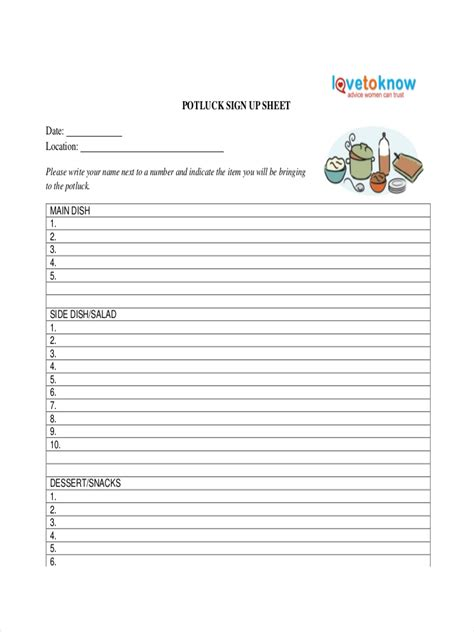 sign  sheet examples samples   examples