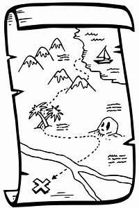 Pirate Treasure Map Coloring Page - GetColoringPages.com