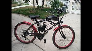 80cc  66cc Bike Engine Kit On Beach Cruiser Motorized Bike