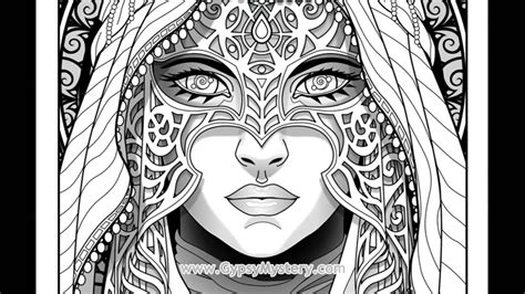 timelapse coloring book art shadow seer  cristina