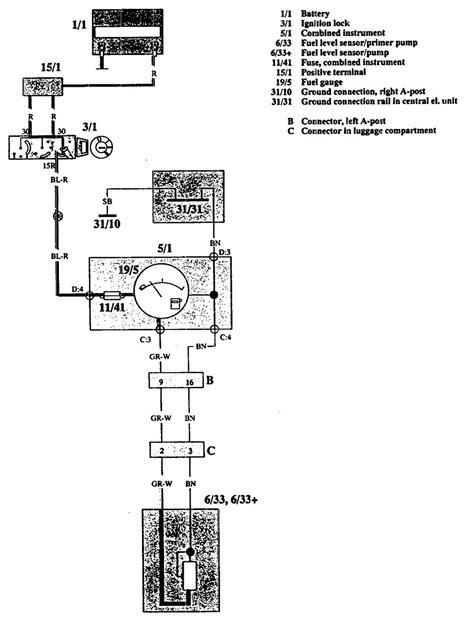 volvo 740 1992 wiring diagrams fuel warning