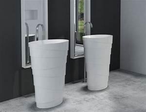 Designer Waschbecken Günstig : freistehendes waschbecken aus mineralguss pb2192 athene wei 60 x 40 x 90 cm solid stone ~ Sanjose-hotels-ca.com Haus und Dekorationen