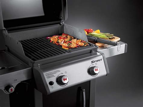 barbecue gaz plancha plancha pour barbecue weber gaz mod 232 le spirit 224 petit prix