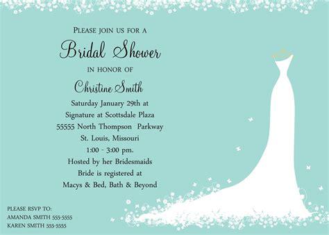bridal shower honeymoon fund bridal shower invitation